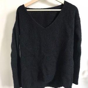 Brandy Melville Black Wool Sweater